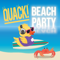 Quack Beach Party Logo